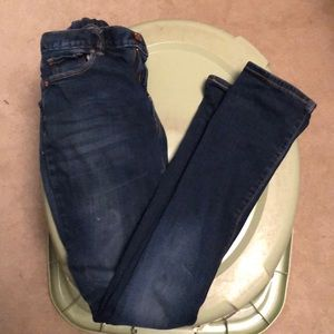 Girls Old Navy dark wash boot cut jeans size 12